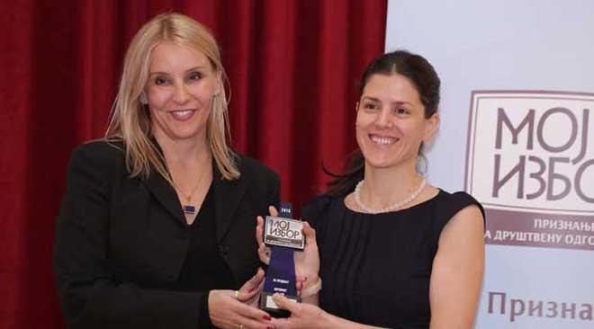 """Telenor - Dobitnik priznanja Moj izbor 2014 za društvenu odgovornost, za projekat """"Internet za sve"""""""